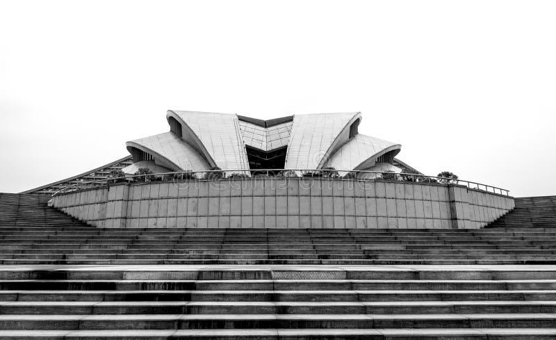Bâtiment moderne noir et de wihte images libres de droits