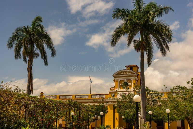 Bâtiment municipal d'hôtel de ville d'Assemblée du Trinidad au Cuba photo stock