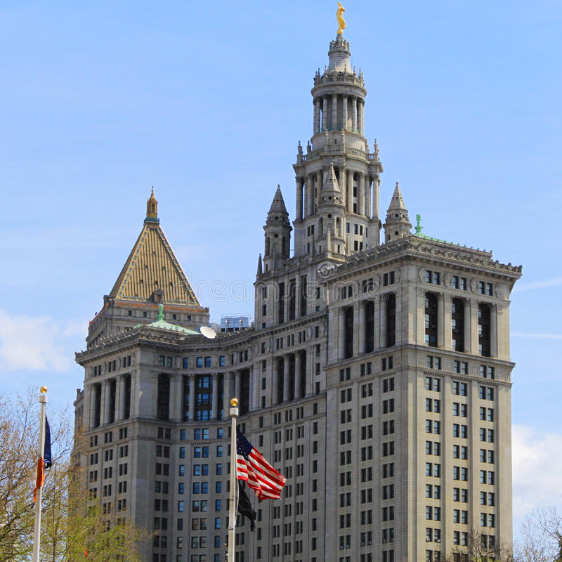 Bâtiment municipal de Manhattan - bâtiment de New York images stock