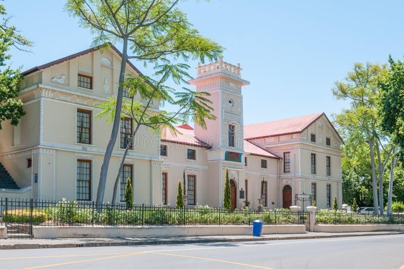 Bâtiment original du gymnase de Paarl photo stock
