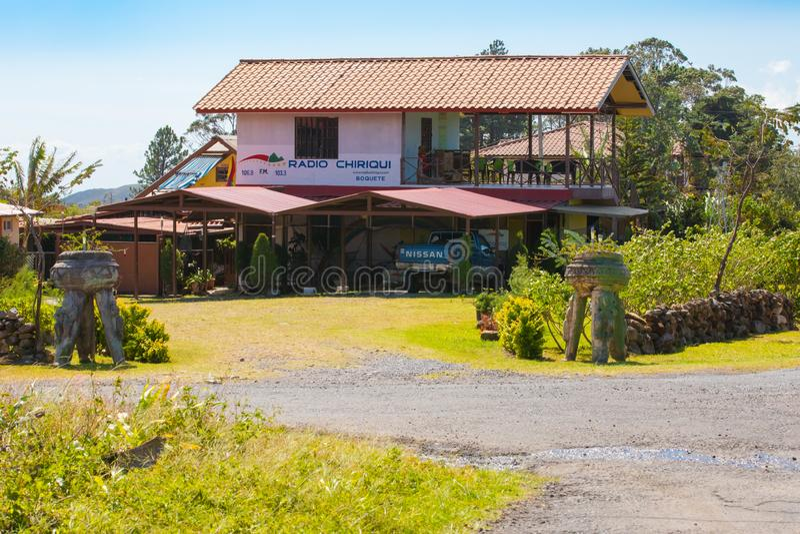 Bâtiment par radio Boquete Panama de chiriqui photo libre de droits