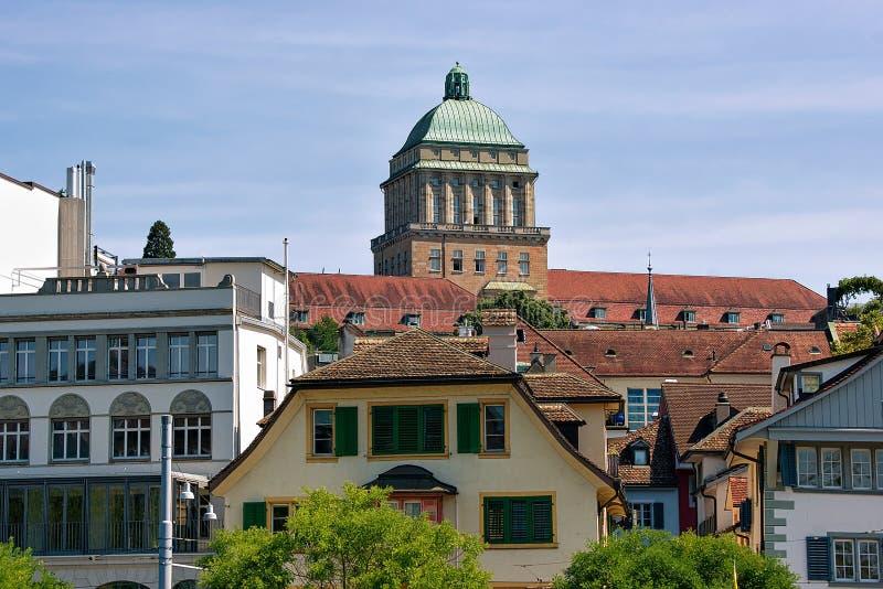 Bâtiment principal d'université de Zurich images libres de droits