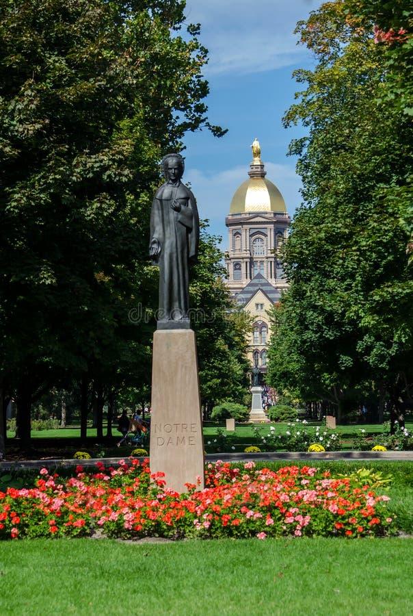 Bâtiment principal de Notre Dame Campus images stock