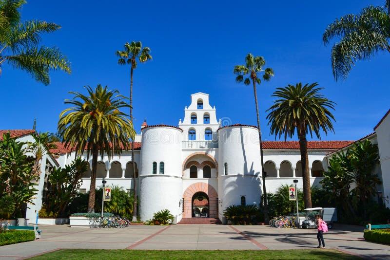 Bâtiment principal Hepner Hall sur San Diego State University Campus photo stock