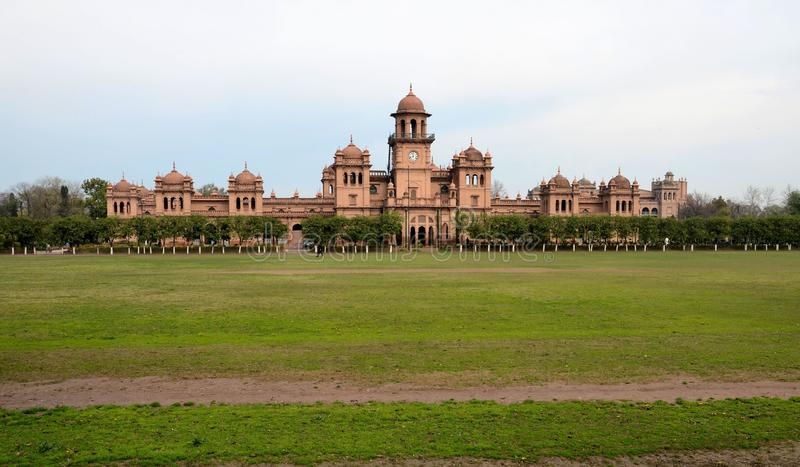 Bâtiment principal Peshawar Pakistan d'Islamia d'université historique d'université image stock