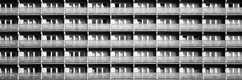 Bâtiment résidentiel dans la ville photos stock