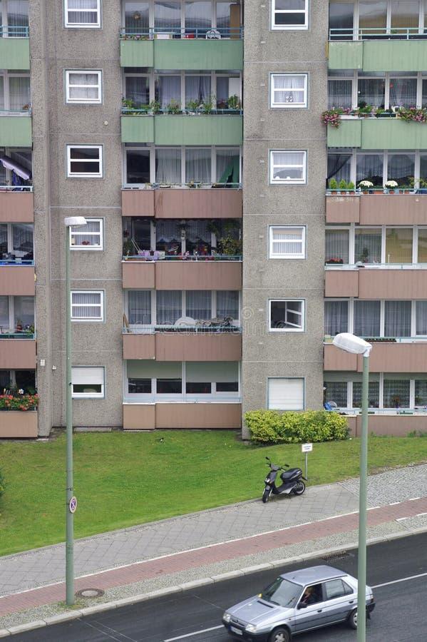 Bâtiment résidentiel dans le secteur de Gesundbrunnen, Berlin, Allemagne photographie stock