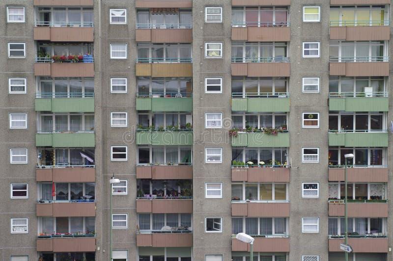 Bâtiment résidentiel dans le secteur de Gesundbrunnen, Berlin, Allemagne images libres de droits