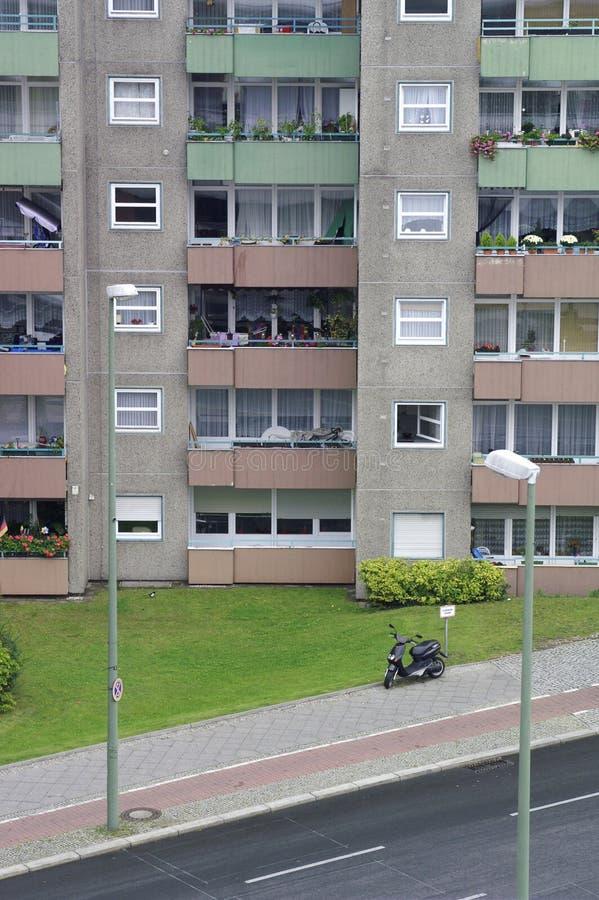 Bâtiment résidentiel dans le secteur de Gesundbrunnen, Berlin, Allemagne image stock
