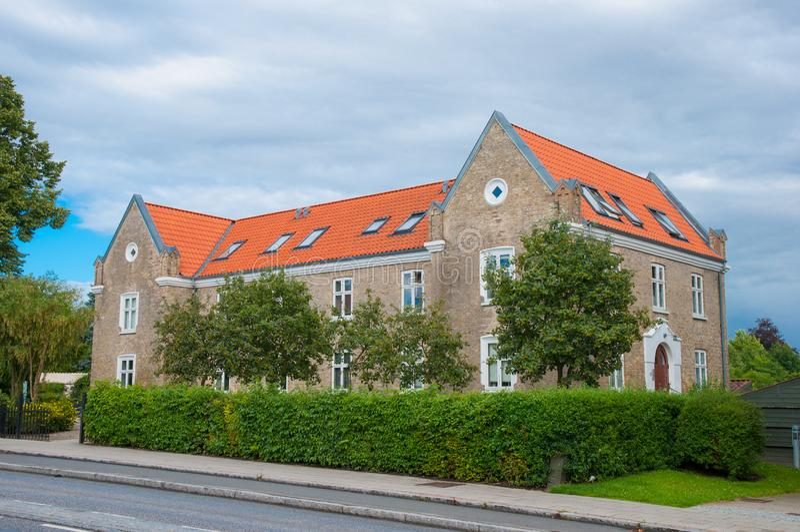 Bâtiment résidentiel dans Ringsted Danemark photo libre de droits