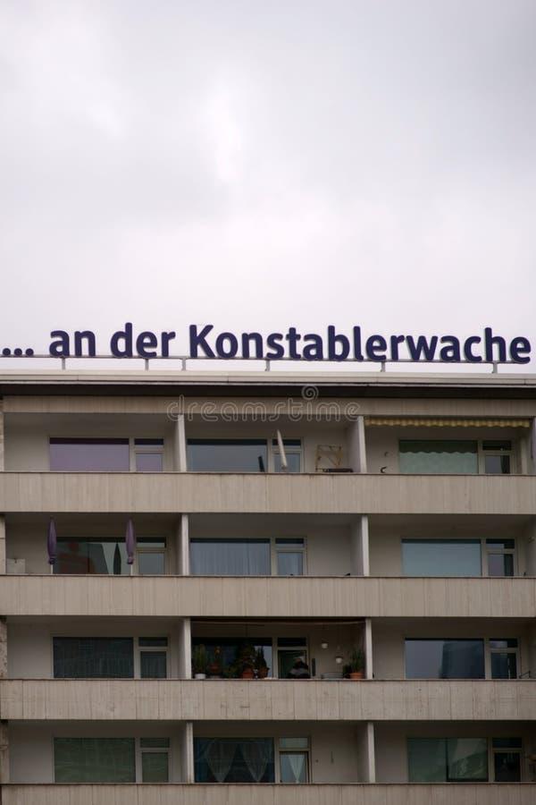 Bâtiment résidentiel Konstablerwache Francfort images libres de droits