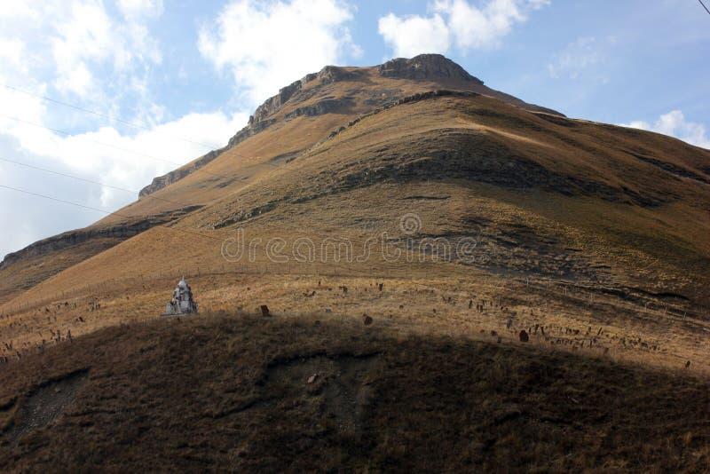 Bâtiment religieux musulman en montagnes de Dagestan images libres de droits