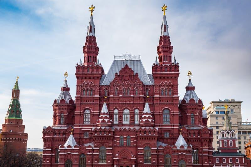 Bâtiment russe de musée d'histoire à Moscou photos stock