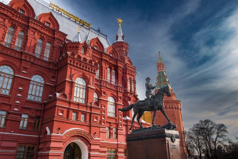 Bâtiment russe de musée d'histoire à Moscou photographie stock