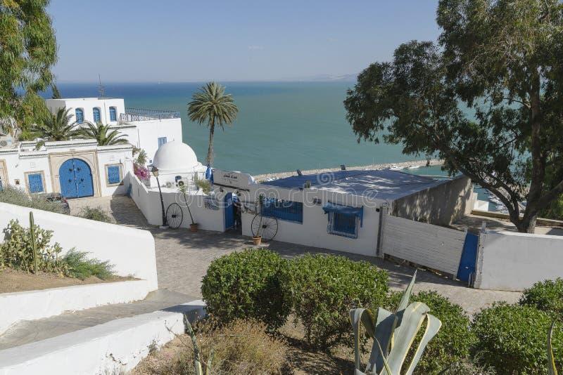 Bâtiment traditionnel à Tunis photos stock