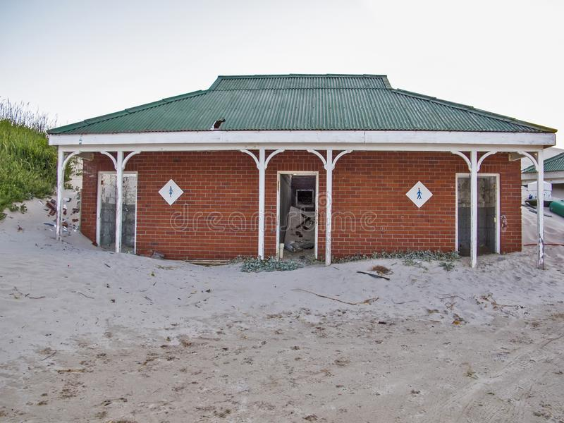 Bâtiment vide dans la baie de Hout, Afrique du Sud photographie stock