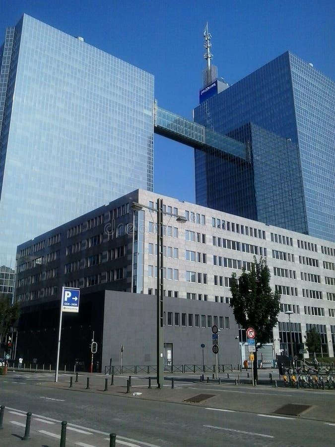 Bâtiments à Bruxelles image libre de droits
