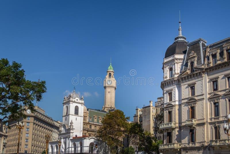 Bâtiments à Buenos Aires du centre près de Plaza de Mayo - à Buenos Aires, Argentine images stock