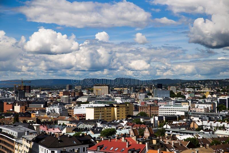 Bâtiments à Oslo du centre 3 images stock