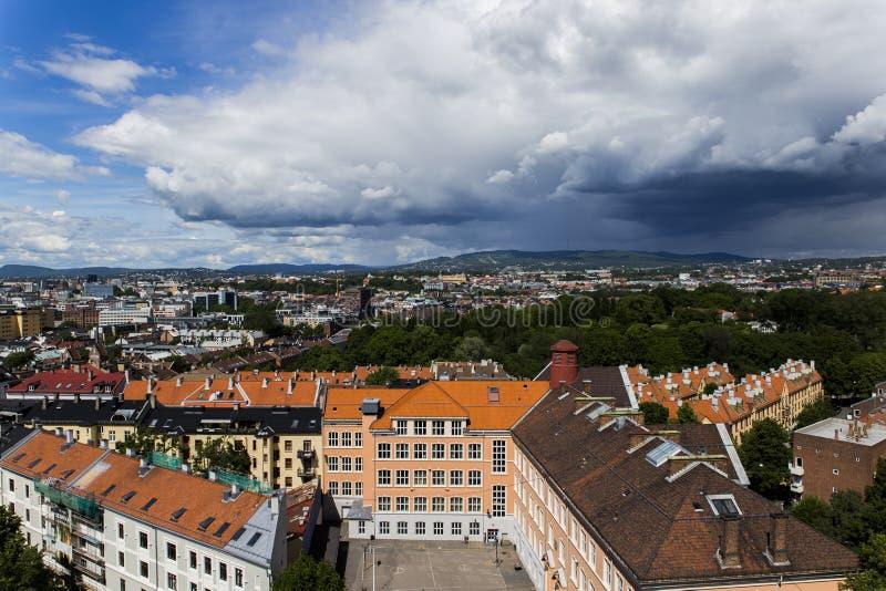 Bâtiments à Oslo du centre 4 image stock
