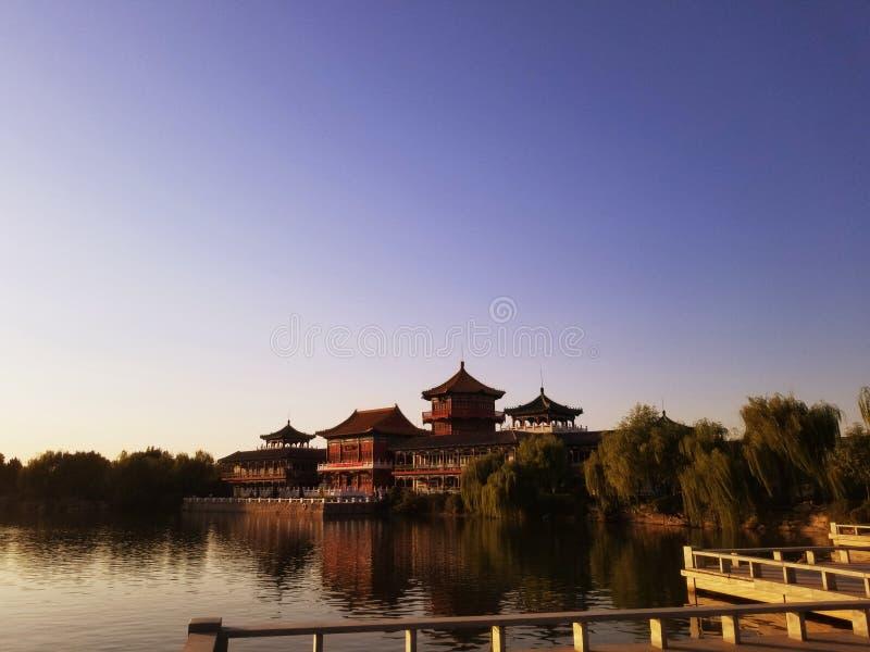 Bâtiments antiques de Kaifeng, Chine images libres de droits