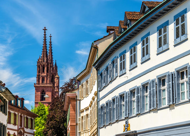 Bâtiments au centre de la ville de Bâle photo libre de droits