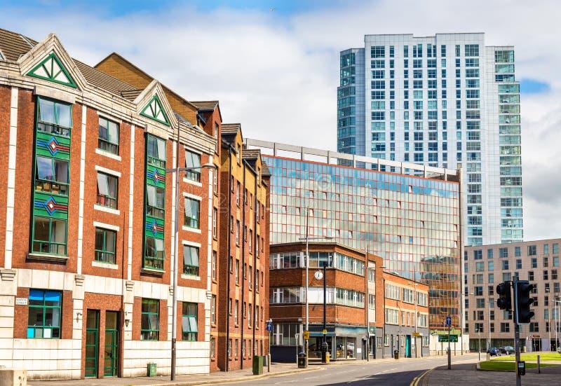 Bâtiments au centre de la ville de Belfast photo libre de droits