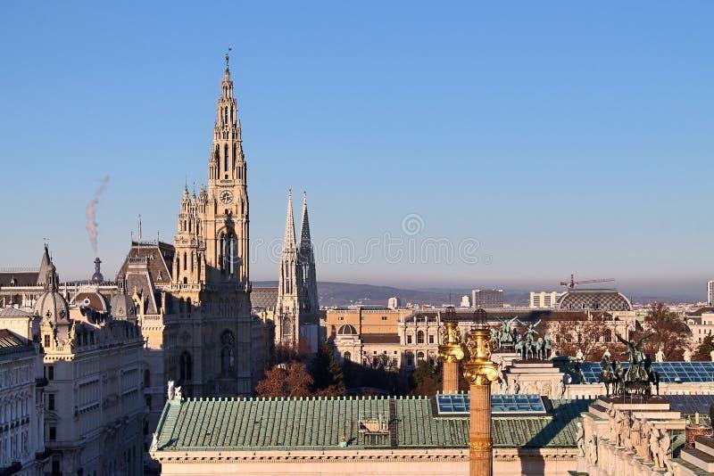 Bâtiments célèbres et architecture de Vienne en Autriche l'Europe photographie stock