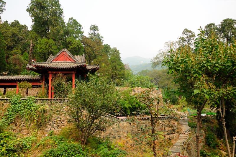 Bâtiments Chine de Taishan images libres de droits