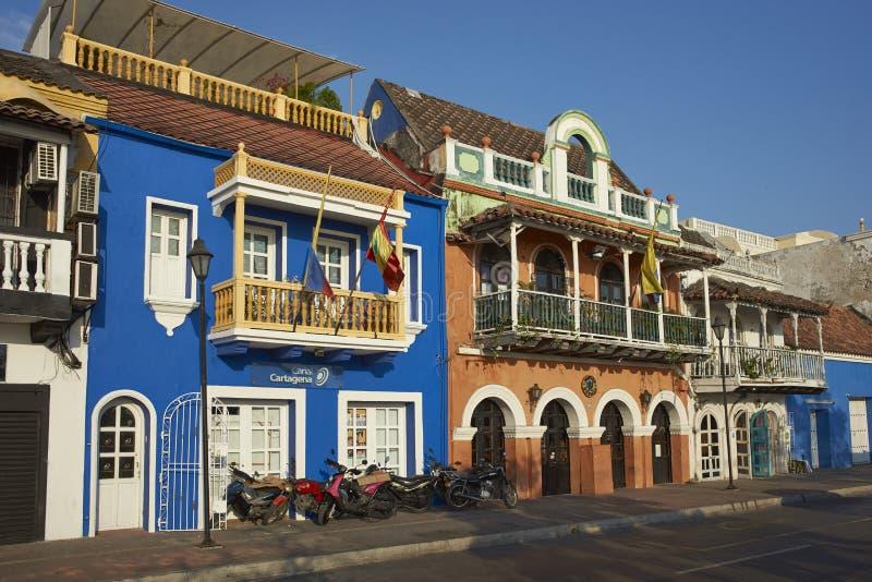 Bâtiments colorés de Carthagène de Indias en Colombie image stock