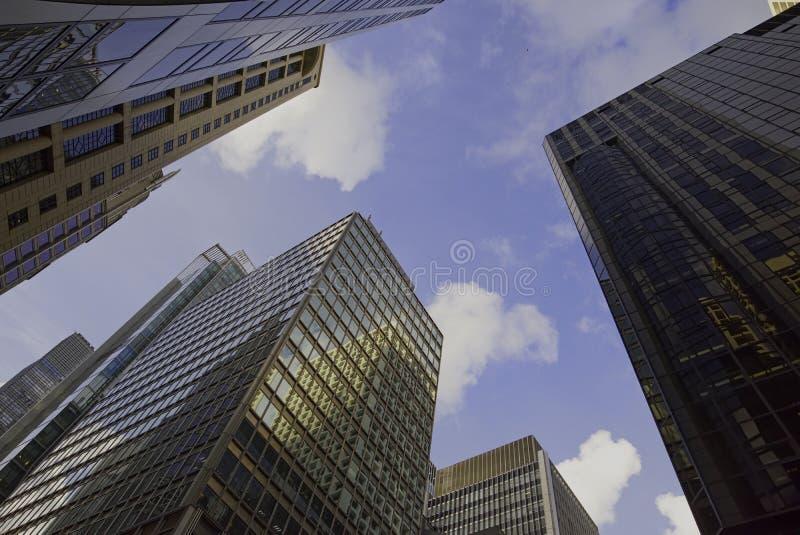 Bâtiments commerciaux de central, Hong Kong photographie stock libre de droits