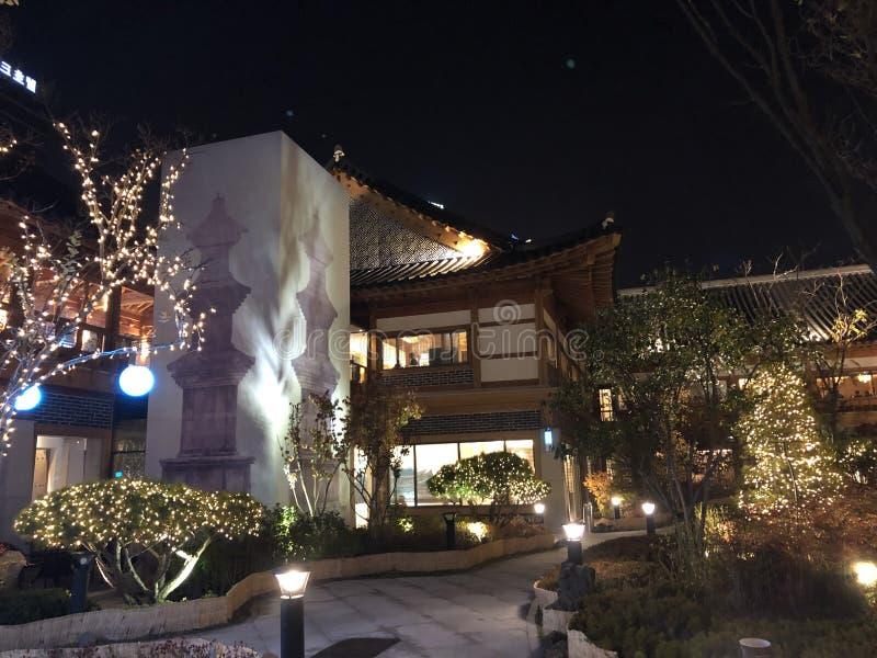 Bâtiments coréens traditionnels à Incheon photographie stock libre de droits