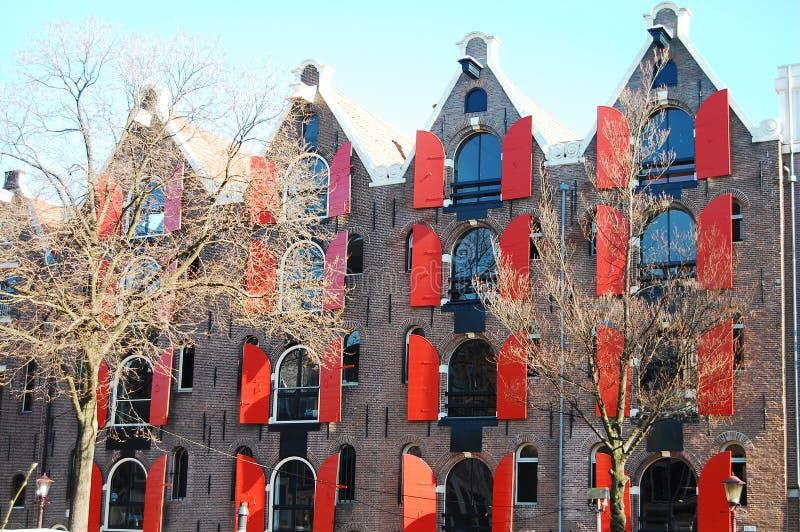 Bâtiments d'Amsterdam photos stock