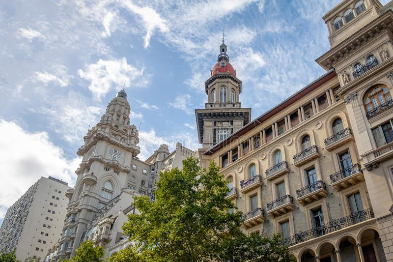 Bâtiments d'Inmobiliaria de palais et de La de Barolo - Buenos Aires, Argentine photographie stock libre de droits