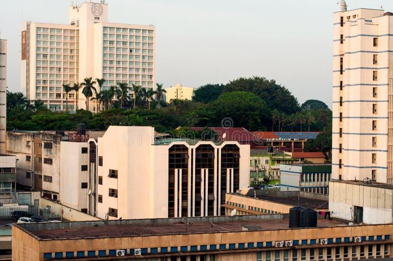Bâtiments dans Kampala du centre, Ouganda photo libre de droits