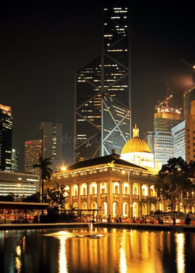 Bâtiments dans la place de statue, Hong Kong Island. photo libre de droits