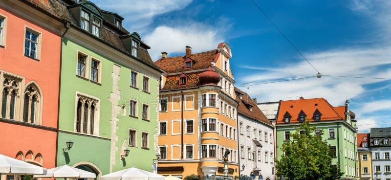 Bâtiments dans la vieille ville de Ratisbonne, Allemagne photo stock