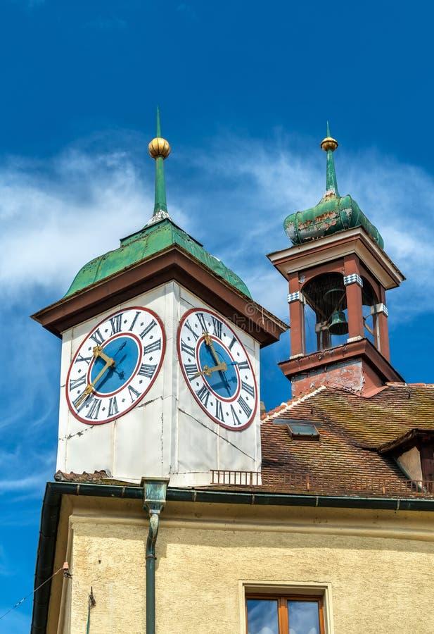 Bâtiments dans la vieille ville de Ratisbonne, Allemagne photographie stock libre de droits