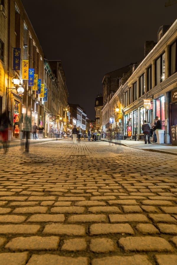 Bâtiments dans la vieille ville Montréal images libres de droits