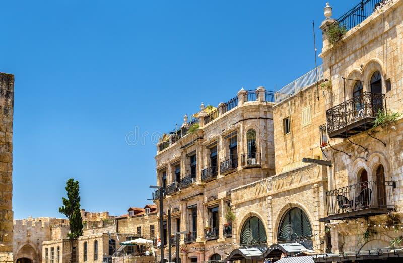 Bâtiments dans le quart arménien de Jérusalem image libre de droits
