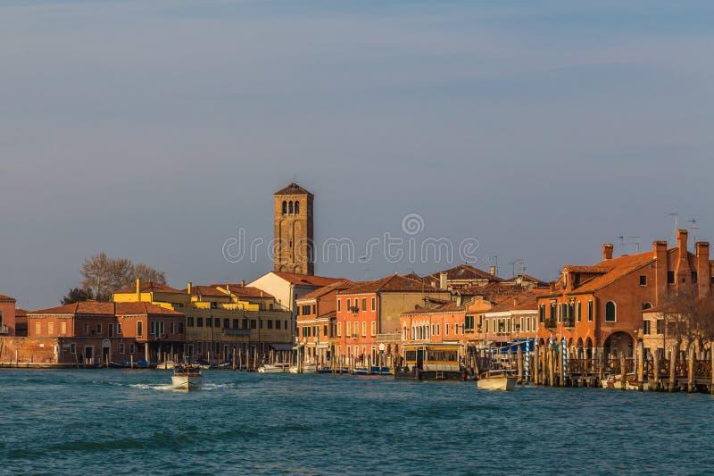 Bâtiments dans Murano images stock