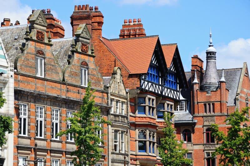 Bâtiments de centre de la ville, Nottingham image libre de droits