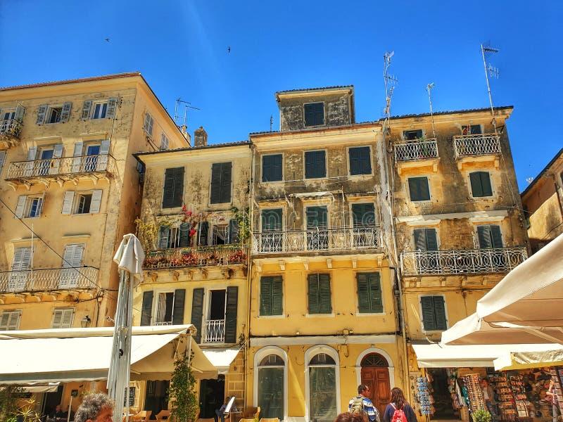 Bâtiments de Corfou Grèce photo libre de droits