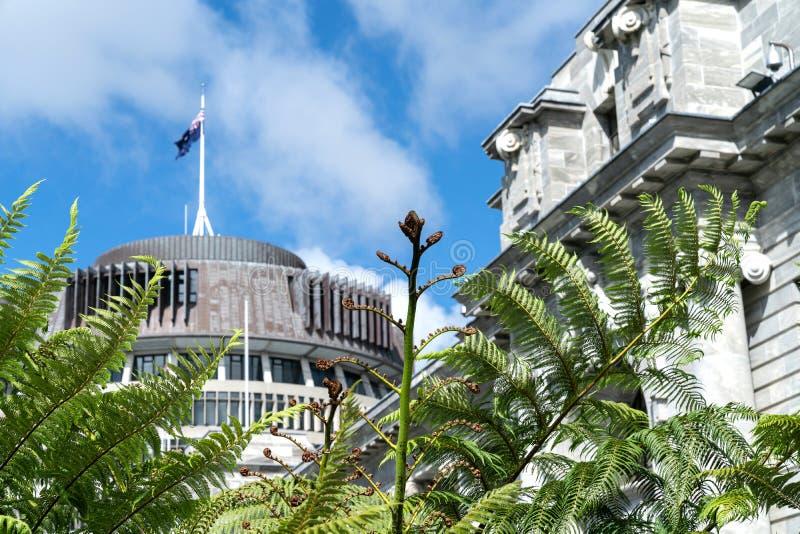 Bâtiments de gouvernement du Nouvelle-Zélande image stock