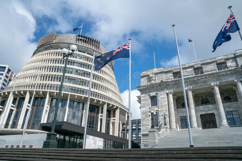 Bâtiments de gouvernement du Nouvelle-Zélande image libre de droits