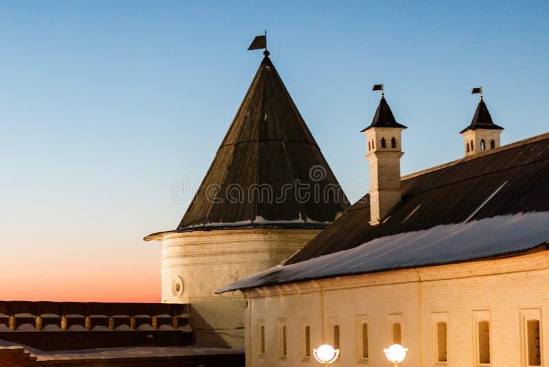 Bâtiments de Kazan le Kremlin images libres de droits