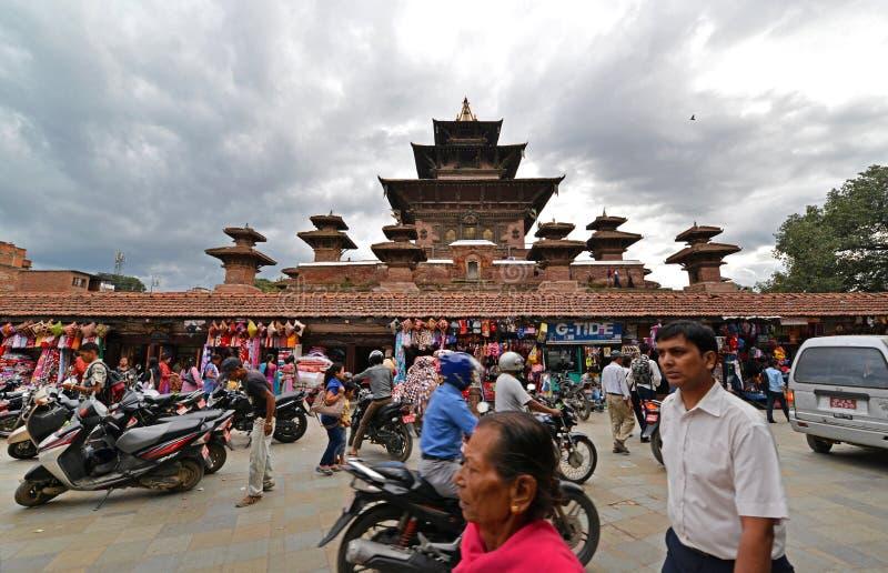 Bâtiments de l'UNESCO de Katmandou avant le tremblement de terre, Népal image libre de droits
