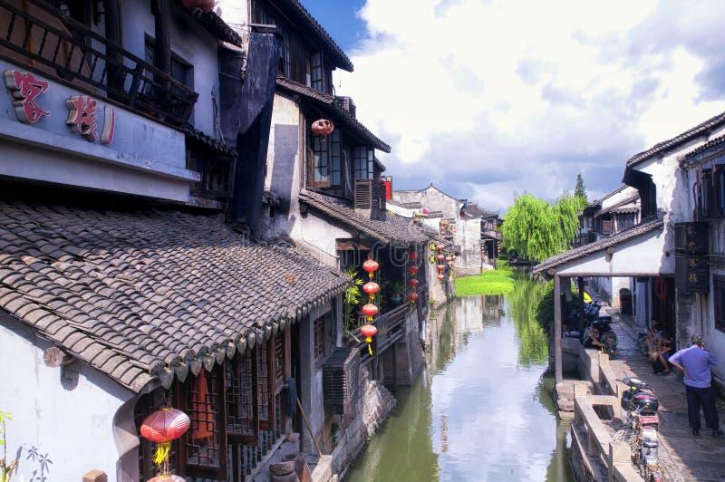 Bâtiments de la Chine de ville de l'eau de Xitang images stock