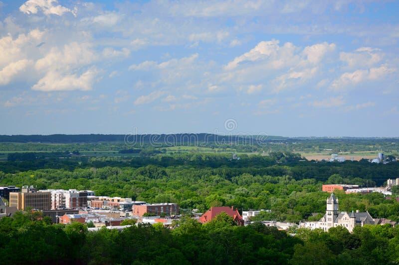Bâtiments de Lawrence du centre en Douglas County, le Kansas photographie stock libre de droits