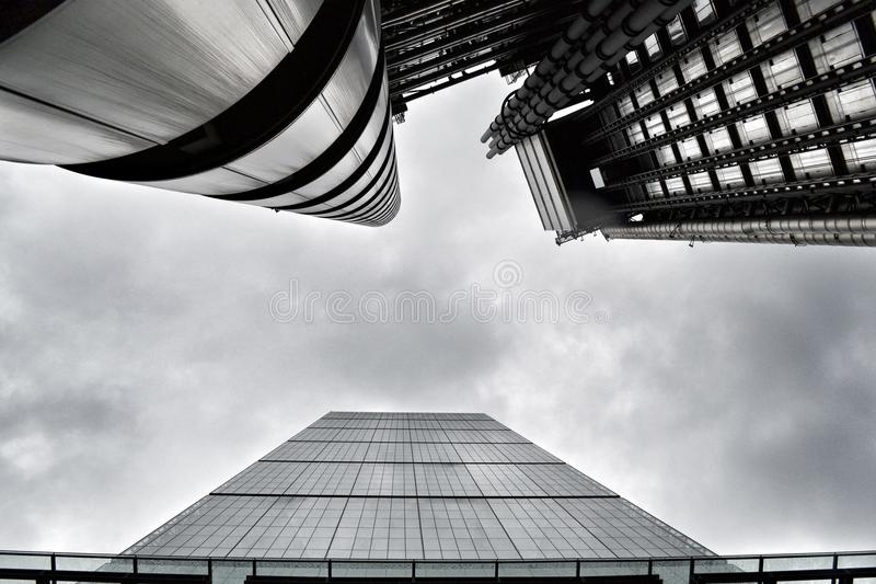 Bâtiments de Leadenhall et de Lloyds dans la ville de Londres photo libre de droits